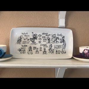 """Disney  """"sketchbook"""" platter"""